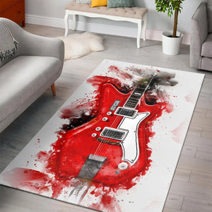 Jack White S Guitar  Area Rugs,  Kitchen Rug,  Halloween Gift