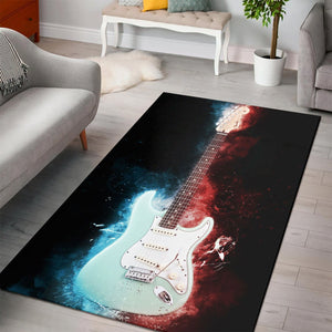 Jeff Beck Guitar  Instrument Area Rug,  Living room and bedroom Rug, Home Decor