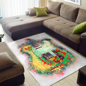 Jimmy Page Dragon Guitar  Rug,  Living room and bedroom Rug,  Family Decor