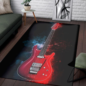 Joe Satriani Guitar  Instrument Area Rug,  Gift for fans,  Floor Decor