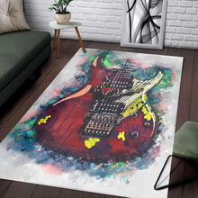 Load image into Gallery viewer, Joe Satriani Guitar  Music Rug,  Living room and bedroom Rug,  Family Decor