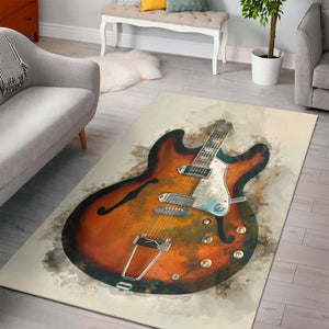 John Lennon S Guitar  Instrument Area Rug,  Gift for fans, Home Decor