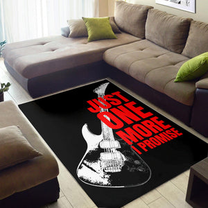 Just One More Guitar  Rug,  Living room and bedroom Rug,  Floor Decor