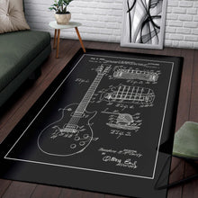 Load image into Gallery viewer, Les Paul Gibson  Music Rug,  Gift for fans,  Floor Decor