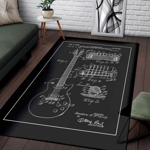Les Paul Gibson  Music Rug,  Gift for fans,  Floor Decor