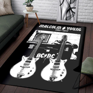 Malcolm Young Gretsch  Instrument Area Rug,  Kitchen Rug,  Halloween Gift