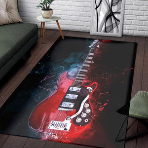Mark Knopfler Guitar  Area Rugs, Living Room Rug,  Halloween Gift