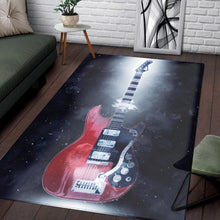 Load image into Gallery viewer, Mark Knopfler Guitar  Instrument Area Rug,  Bedroom,  Christmas Gift