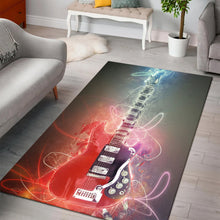 Load image into Gallery viewer, Mark Knopfler Guitar  Instrument Area Rug,  Gift for fans,  Christmas Gift