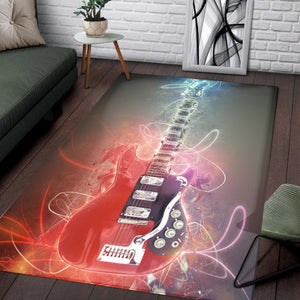 Mark Knopfler Guitar  Instrument Area Rug,  Gift for fans,  Christmas Gift