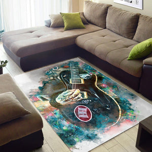 Mark Tremonti Guitar  Instrument Area Rug,  Gift for fans,  Halloween Gift