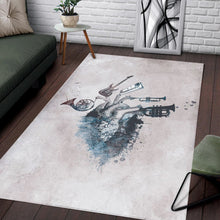 Load image into Gallery viewer, Music My Love Blue  Instrument Area Rug,  Bedroom,  Christmas Gift