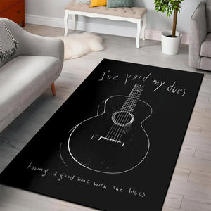 Paid My Dues Blues Music  Music Rug,  Kitchen Rug, Home Decor