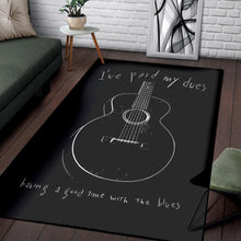 Load image into Gallery viewer, Paid My Dues Blues Music  Music Rug,  Kitchen Rug, Home Decor