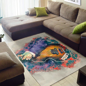 Paul Mccartney Bass Guitar  Area Rugs,  Living room and bedroom Rug,  Family Decor