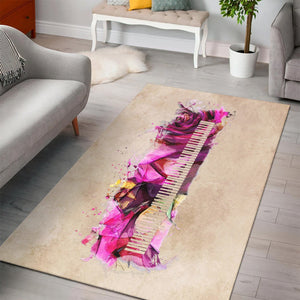 Piano Music Art  Printing Instrument Rug,  Kitchen Rug,  Floor Decor