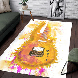 Prince S Cloud Guitar  Printing Instrument Rug,  Living room and bedroom Rug,  Halloween Gift