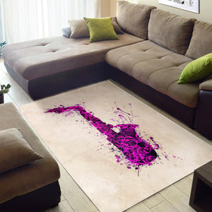 Purple Saxophone  Printing Instrument Rug,  Living room and bedroom Rug,  Floor Decor