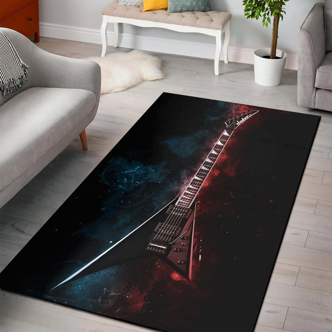 Randy Rhoads Guitar  Area Rugs,  Living room and bedroom Rug,  Halloween Gift