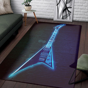 Randy Rhoads Guitar  Rug, Living Room Rug, Home Decor