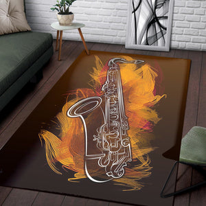 Sax Craze  Rug,  Living room and bedroom Rug,  Family Decor