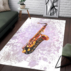 Saxophone  Area Rugs,  Gift for fans,  Family Decor