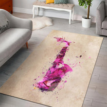 Load image into Gallery viewer, Saxophone  Instrument Area Rug,  Bedroom,  Halloween Gift