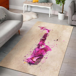 Saxophone  Instrument Area Rug,  Bedroom,  Halloween Gift