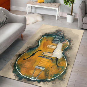 Scotty S Guitar  Area Rugs,  Living room and bedroom Rug,  Floor Decor