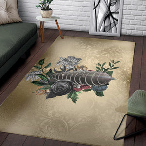 Steampunk Airship  Printing Instrument Rug, Living Room Rug,  Floor Decor