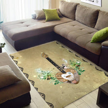 Load image into Gallery viewer, Steampunk Guitar  Printing Instrument Rug, Living Room Rug,  Floor Decor
