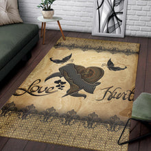 Load image into Gallery viewer, Steampunk Heart  Instrument Area Rug,  Living room and bedroom Rug,  Halloween Gift