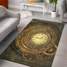 Load image into Gallery viewer, Steampunk Wonderful Clockw  Music Rug, Living Room Rug,  Floor Decor