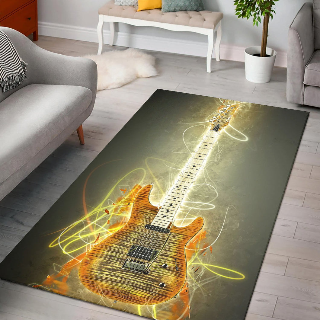 Steve Howe Guitar  Music Rug,  Kitchen Rug,  Christmas Gift