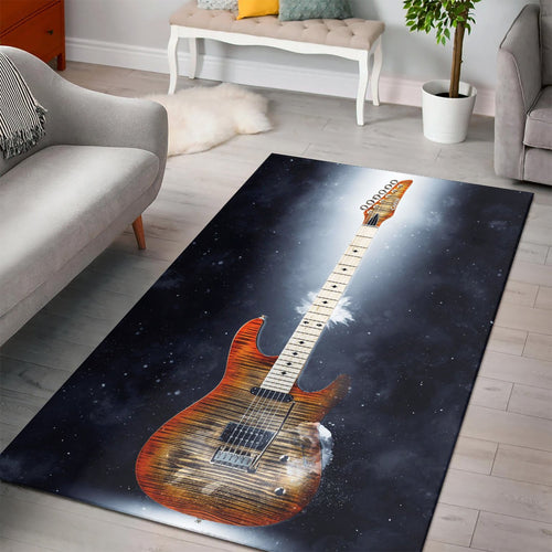 Steve Howe Guitar  Music Rug, Living Room Rug,  Halloween Gift