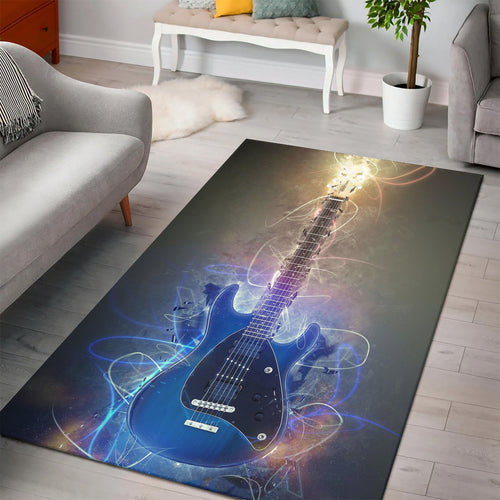 Steve Morse Guitar  Music Rug, Living Room Rug,  Christmas Gift