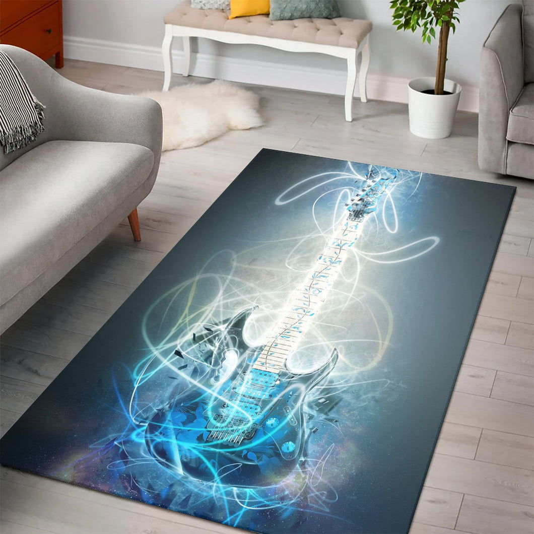 Steve Vai Guitar  Instrument Area Rug,  Kitchen Rug,  Family Decor