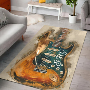 Stevie Ray Vaughan S Axe  Area Rugs,  Kitchen Rug,  Halloween Gift