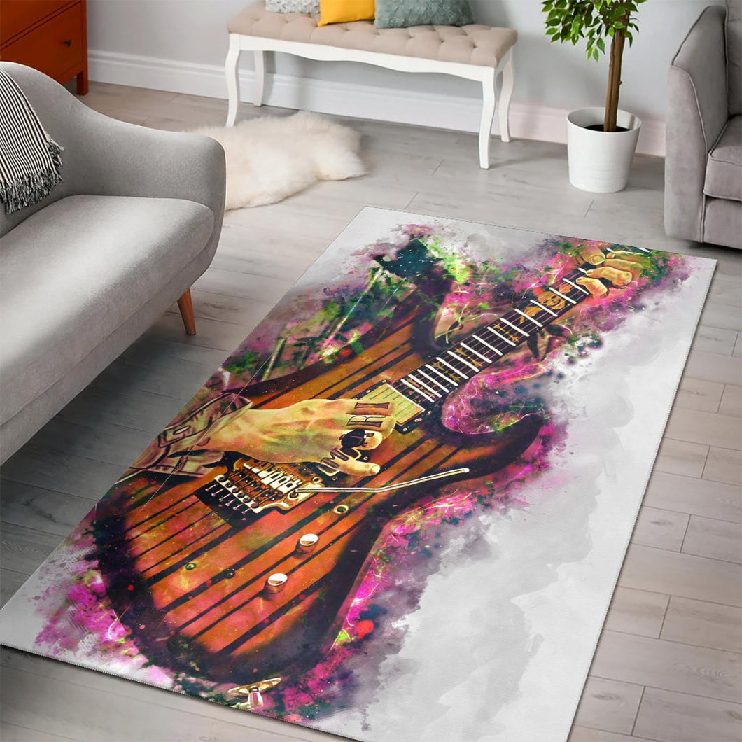 Synyster Gates Guitar  Area Rugs,  Bedroom,  Halloween Gift