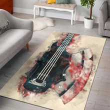 Load image into Gallery viewer, The Demon S Bass Guitar  Instrument Area Rug, Living Room Rug, Home Decor