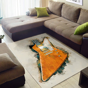 The Edge S Guitar  Area Rugs,  Living room and bedroom Rug,  Halloween Gift