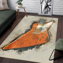 Load image into Gallery viewer, The Edge S Guitar  Area Rugs,  Living room and bedroom Rug,  Halloween Gift