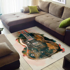 Tony Iommi Electric Guitar  Rug,  Gift for fans,  Christmas Gift