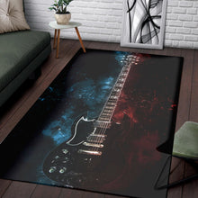 Load image into Gallery viewer, Tony Iommi Guitar  Instrument Area Rug,  Bedroom,  Family Decor