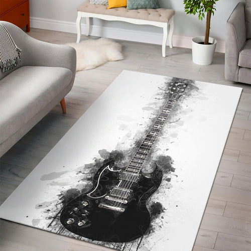 Tony Iommi Guitar  Music Rug,  Bedroom,  Family Decor