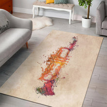 Load image into Gallery viewer, Trumpet Music Art  Area Rugs,  Living room and bedroom Rug,  Floor Decor