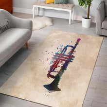Load image into Gallery viewer, Trumpet  Music Rug, Living Room Rug, Home Decor