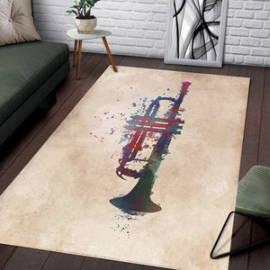 Trumpet  Music Rug, Living Room Rug, Home Decor