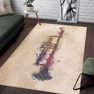 Trumpet  Rug,  Living room and bedroom Rug,  Family Decor