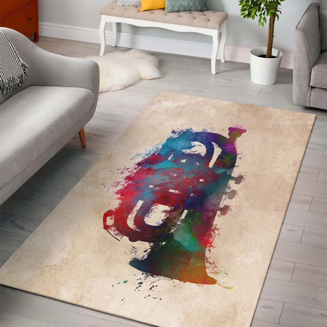 Tuba  Music Rug,  Gift for fans,  Floor Decor